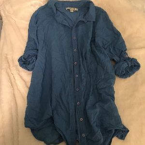 Blue 100% cotton soft shirt